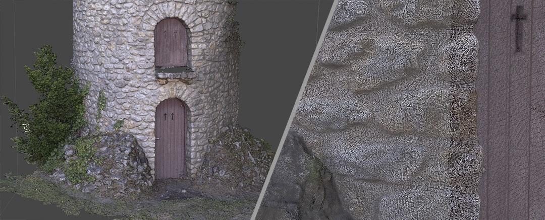 Présentation du scan 3D d'un bâtiment