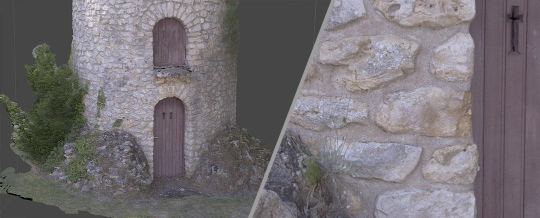 Maillage et texture du scan 3d d'un bâtiment