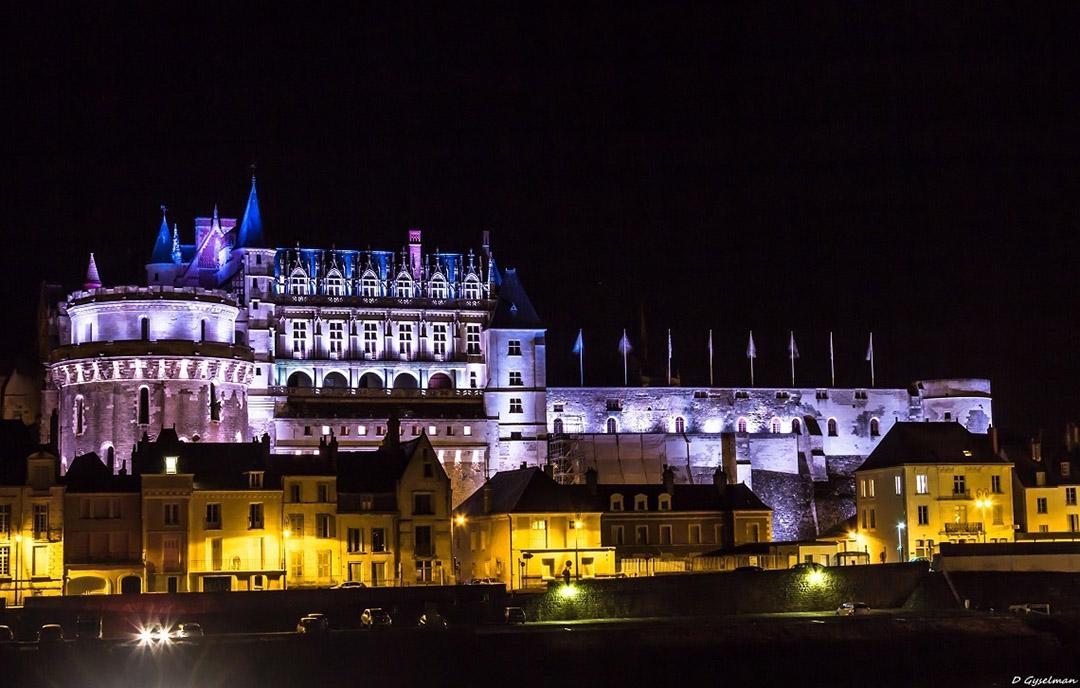 Mise en lumière château d'amboise