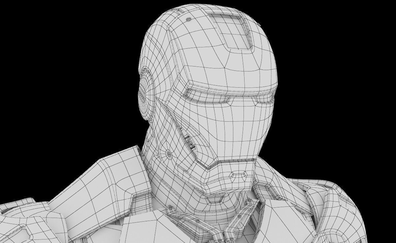 Modélisation 3D d'Iron Man