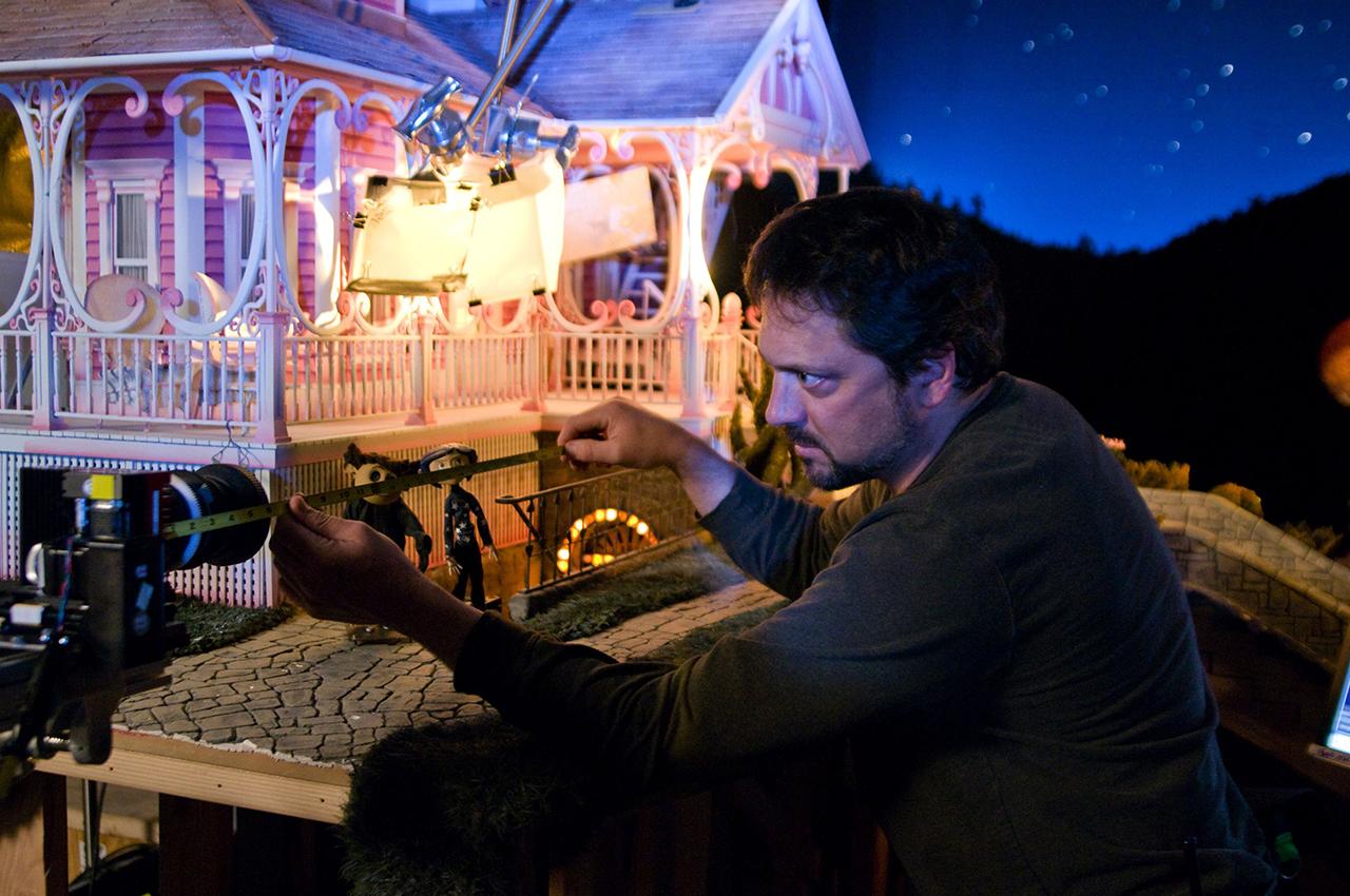 Plateau de tournage du film Coraline en animation stop motion