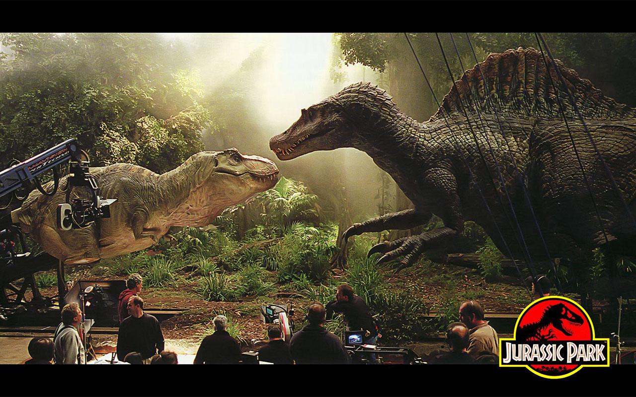 Image du film Jurassic Park avec des animatroniques