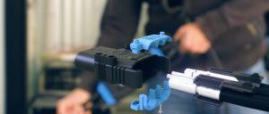 Eaxtron connecteur batterie faible effort prise bleue vue en éclaté