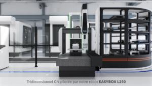 Machine Engineering Data tridimensionnel CN pilotée par robot EASYBOX L250