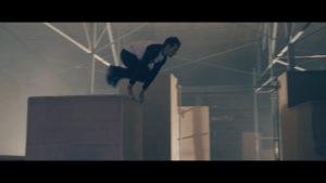 Parkour, saut, homme