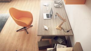 Visuels 3D photoréalistes de lampes d'architectes sur bureau - Tronatic Studio
