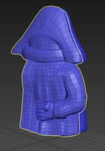 Design 3D de la figurine de Napoléon