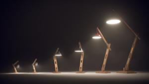 Visuels 3D photoréalistes de lampes d'architectes - Tronatic Studio