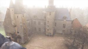 Reproduction 3D du château de Bannegon avec de la neige