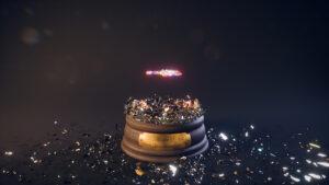 Explosion totale de la paroi en verre de la boule de neige