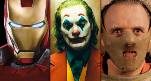 Image groupant Iron Man, le Joker et Hannibal Lecter