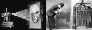 La lanterne magique et le kinetoscope de projection