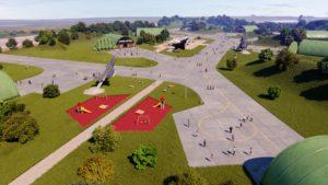 Aéroport de Tours 3D visuels architecture 3D photoréalistes - CGI - Archviz