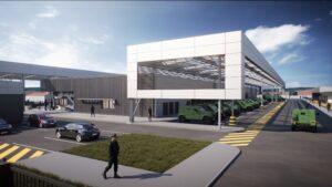 Vue de face bâtiment de la caserne Sissonne - Visuels architecturaux 3D réalisés par Tronatic Studio Tours