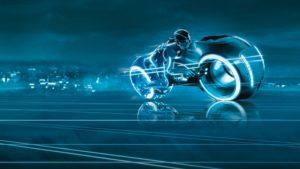 Moto piloté dans l'univers TRON - Article Design